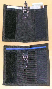 2 opened cordura wallet