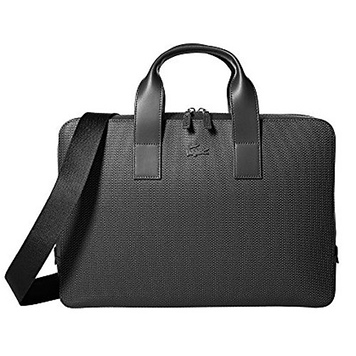 LACOSTE Business Style Briefcase Bag Classic Chic 7 Black
