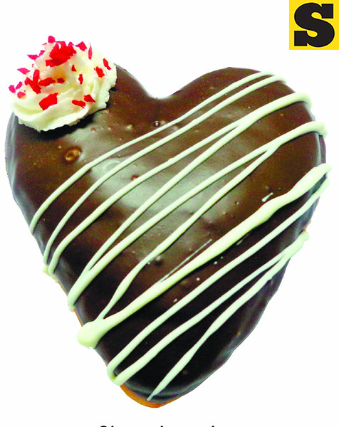 Dunkin' Donuts' Heart-shaped sweets for Valentine's Day. (Photo by Allan Cuizon of Sun.Star Cebu)