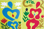 Adam and Eve EVE (Diptych) by Radel Paredes. Acrylic on canvas.