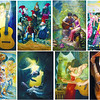 HALAD MUSIKA: A MEDLEY OF VISUALS. [clockwise] (1) Ambition by Joel Cristobat (2) The Enchanted Sound of Jingle Bells by Ariel Caratao (3) Nature Lover by Bobier Crispin (4) Picasso's Magic Flute by Jojo Sagayno (5) Music As Life Itself by Celso Duazo Pepito (6) Rhythm by Mark Lloyd Belicario (7) Music Lovers by Marlone Ylanan (8) Bajo De Arco by Juan Guido Lubanga. (Photos by Ruel Rosello of Sun.Star Cebu)