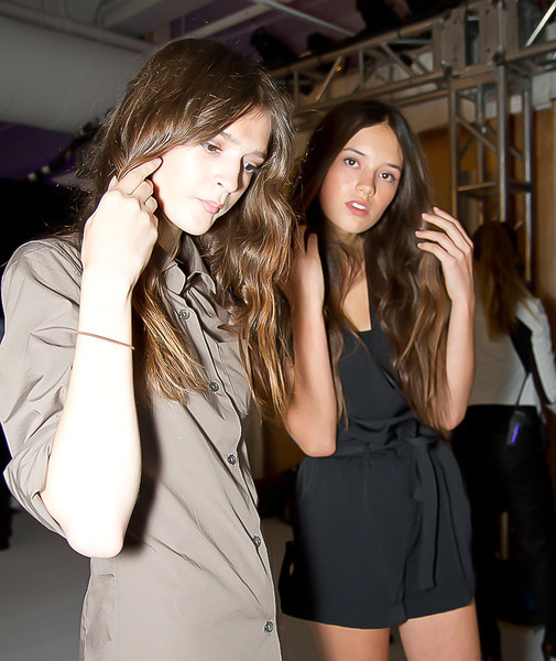 Mandy Coon Backstage Fashion Show NYFW SS 2012