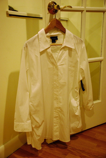 White Button-down shirt