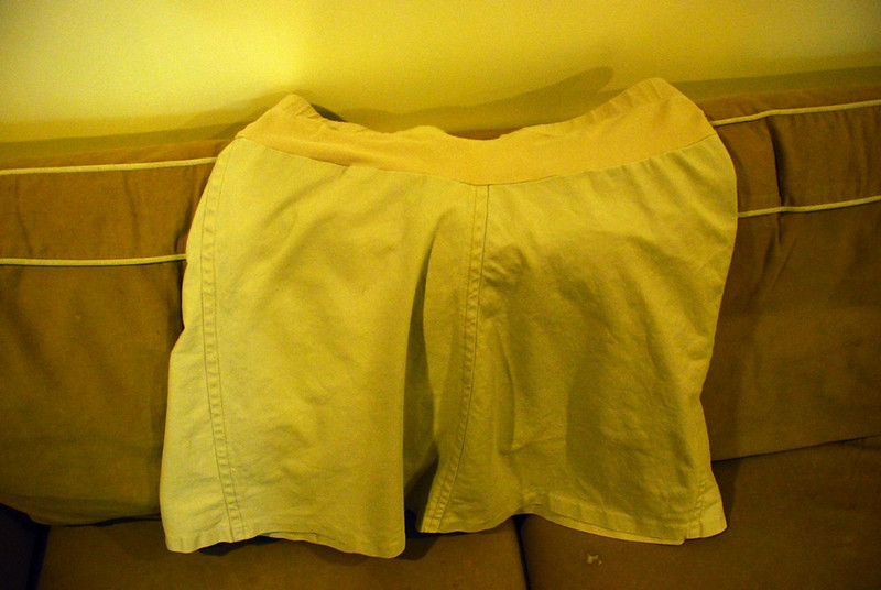 Kahki skirt with Belly panel