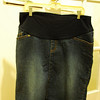 Jean Skirt with belly panel