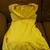 Off white, crepe dress