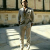 Linen suit from Zara Man, tank & scarf from H&M, shoes from Valentino India
