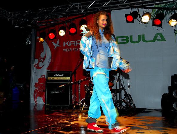 Frå moteshow på Torget, Voss under Freestyle World Cup 2009..
