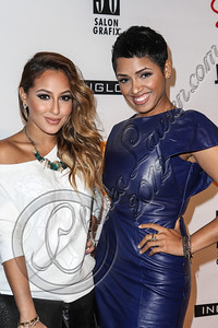NEW YORK, NY - SEPTEMBER 10:  Actress Adrienne Bailon (L) and singer RaVaughn Brown attend Abbey Dawn By Avril Lavigne Spring 2013 at the Metropolitan Pavilion on September 10, 2012 in New York City.  (Photo by Chelsea Lauren/Getty Images)