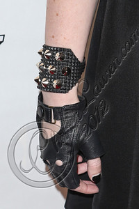 NEW YORK, NY - SEPTEMBER 10:  Musician Madame Mayhem (glove detail) attends Abbey Dawn By Avril Lavigne Spring 2013 at the Metropolitan Pavilion on September 10, 2012 in New York City.  (Photo by Chelsea Lauren/Getty Images)