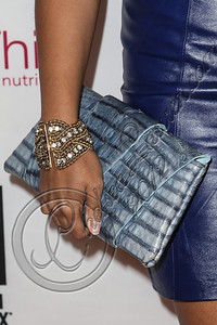 NEW YORK, NY - SEPTEMBER 10:  Singer RaVaughn Brown (clutch detail) attends Abbey Dawn By Avril Lavigne Spring 2013 at the Metropolitan Pavilion on September 10, 2012 in New York City.  (Photo by Chelsea Lauren/Getty Images)