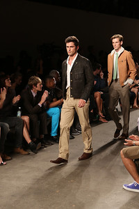 NEW YORK, NY - SEPTEMBER 07:  Model Sean O'Pry walks the runway during Billy Reid's spring 2013 fashion show during Mercedes-Benz Fashion Week at Eyebeam on September 7, 2012 in New York City.  (Photo by Chelsea Lauren/Getty Images)