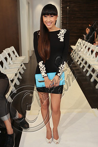 NEW YORK, NY - SEPTEMBER 09:  Singer Baiyu attends the Blanc de Chine spring 2013 fashion show during Mercedes-Benz Fashion Week on September 9, 2012 in New York City.  (Photo by Chelsea Lauren/Getty Images)