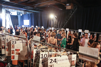 NEW YORK, NY - SEPTEMBER 08:  A general view of the atmosphere backstage at Edun Spring 2013 at Skylight Studios at Moynihan Station on September 8, 2012 in New York City.  (Photo by Chelsea Lauren/Getty Images)