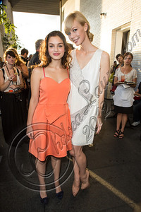 NEW YORK, NY - SEPTEMBER 05:  Actress Odeya Rush (L) and designer Erin Fetherston attend the Erin by Erin Fetherston spring 2013 presentation during Mercedes-Benz Fashion Week at The Standard Hotel on September 5, 2012 in New York City.  (Photo by Chelsea Lauren/Getty Images)