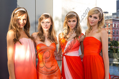NEW YORK, NY - SEPTEMBER 05:  Models pose at the Erin by Erin Fetherston spring 2013 presentation during Mercedes-Benz Fashion Week at The Standard Hotel on September 5, 2012 in New York City.  (Photo by Chelsea Lauren/Getty Images)