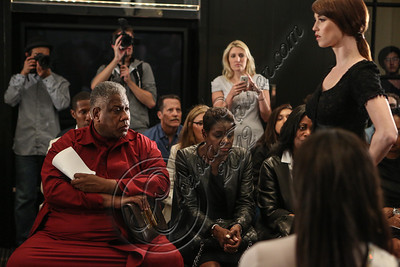 NEW YORK, NY - SEPTEMBER 11:  Andre Leon Talley (L) attends the Laura Smalls spring 2013 fashion show during Mercedes-Benz Fashion Week at the Andaz Hotel on September 11, 2012 in New York City.  (Photo by Chelsea Lauren/Getty Images)