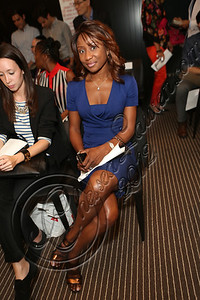 NEW YORK, NY - SEPTEMBER 11:  Ebony magazine fashion editor Ericka Goodman attends the Laura Smalls spring 2013 fashion show during Mercedes-Benz Fashion Week at the Andaz Hotel on September 11, 2012 in New York City.  (Photo by Chelsea Lauren/Getty Images)