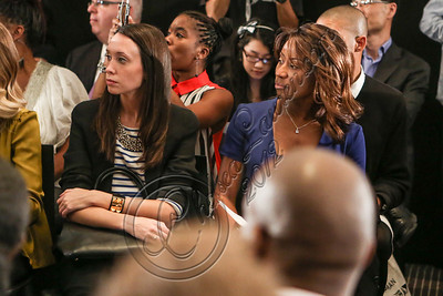 NEW YORK, NY - SEPTEMBER 11:  Amanda Frankel of ELLE (L) and Ebony magazine fashion editor Ericka Goodman attend the Laura Smalls spring 2013 fashion show during Mercedes-Benz Fashion Week at the Andaz Hotel on September 11, 2012 in New York City.  (Photo by Chelsea Lauren/Getty Images)