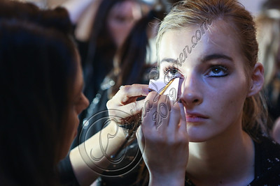 NEW YORK, NY - SEPTEMBER 12:  A model prepares backstage at the Marchesa spring 2013 fashion show during Mercedes-Benz Fashion Week at Vanderbilt Hall at Grand Central Terminal on September 12, 2012 in New York City.  (Photo by Chelsea Lauren/Getty Images)