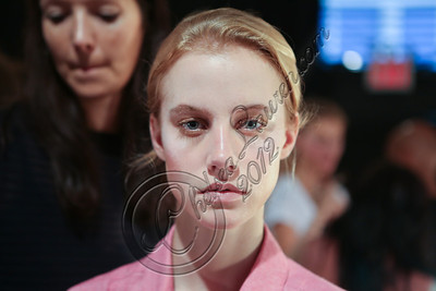 NEW YORK, NY - SEPTEMBER 07:  A model poses backstage at the Tess Giberson spring 2013 fashion show during Mercedes-Benz Fashion Week at Eyebeam on September 7, 2012 in New York City.  (Photo by Chelsea Lauren/Getty Images)