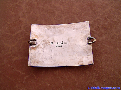 (15) Belt buckle, with the mark of Navajo artist Harrison Jim