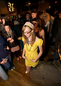 """Heather Storer gets ready to """"do her little thing on the catwalk"""" at Northside Tavern for the Rock n' Roll Fashion Show Rock n' Roll Fashion Show at Northside Tavern"""
