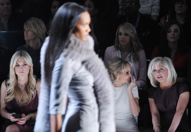 "Models at The Adrienne Vittadini Fall 2012 Presentation, held at The Adrienne Vittadini Showroom in New York City, Thursday, February 16, 2012. (photo by Katy Winn/ Graylock.com) <a href=""mailto:katywinn@justwinnk.com"">Email Me</a>"