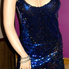 Royal Blue and Black Sequined Dress - Size L<br /> $15