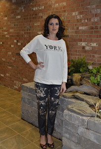City Holiday ankle pant (with York logo shirt)