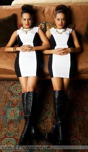 Models: Corri Anna Thomas & Karri Lauritzen MUA/H: Jenny Bakes Photographer: Alex Weisman