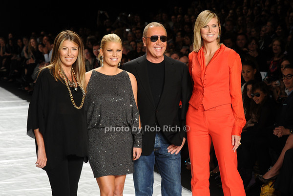 Nina Garcia, Jessica Simpson, Michael Kors, Heidi Klum<br /> photo by Rob Rich © 2010 robwayne1@aol.com 516-676-3939
