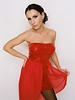 Red Dress Glittering Top Fashion European Model