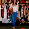 Photo by Lily Ko<br /> <br /> In This Scene: Tenaya Figueira looked very vintage-shopping appropriate in her casual 1970's outfit. She's wearing Jeffery Campbell lace-up ankle boots and a breezy top from Urban Outfitters.