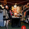 Photo by Lily Ko<br /> <br /> In This Scene: Cicely Ann Hansen, owner of Decades of Fashion in the Haight, was a live mannequin for her booth at the Vintage Fashion Expo. Her fur-trimmed, leopard print swing coat is a vintage treasure, perfectly matched with that hat. She really completed the vintage look with her hair and make-up.