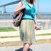 Photo by Lily Ko<br /> <br /> In This Scene:  Roaming Tales blogger, Caitlin Fitzsimmons, in a Missoni skirt and Elie Tahari blouse. I love her look because it shows that real women can wear designer clothing and look fabulous.