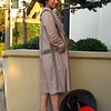 Photo by Lily Ko<br /> <br /> In This Scene: Akiko Matsumoto was out celebrating her last day in San Francisco. This dusty mauve, linen coat by BCBG has great crochet detailing. The dropped waistline gave this coat a romantic 1920's feel.