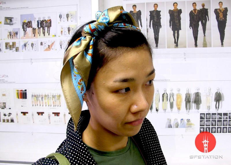 Photo by Lily Ko<br /> <br /> In This Scene:  Yuko Okudaira tied this vintage scarf into such a lovely headband. I love the oversized bow and it's so easy to make!