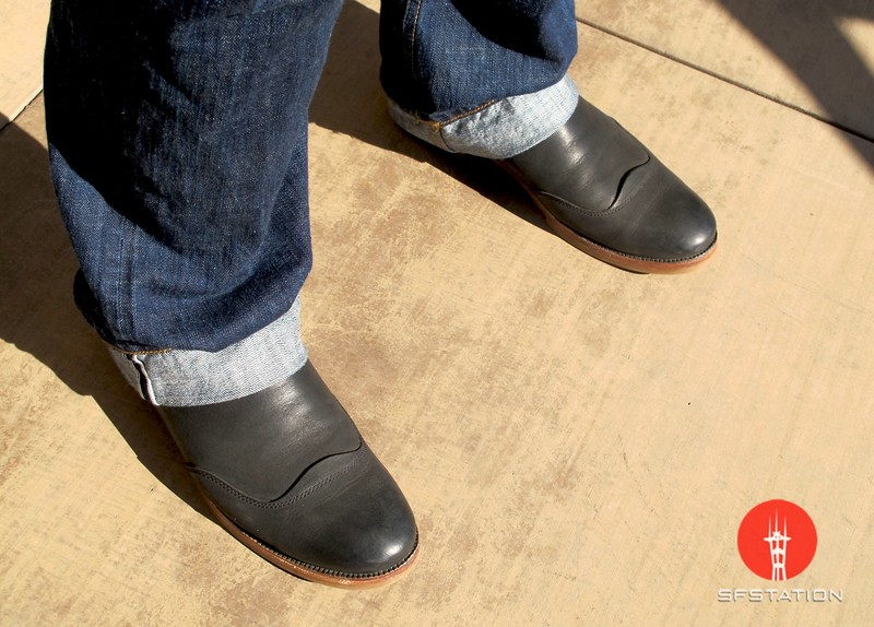 Photo by Lily Ko<br /> <br /> In This Scene:  Eric Tian's smooth kicks by Fossil. I have to say--this is a pretty lovely pair of mens shoes. So sleek with great lines.