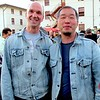 Photo by Lily Ko<br /> <br /> In This Scene:  Peter (left) and Clement (right) look amazing in their matching Abercrombie & Fitch washed denim jackets. Underneath, Peter wears a Martin + Osa tee, while Clement sports Banana Republic.