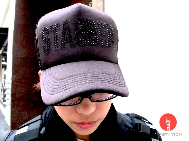 "Photo by Lily Ko<br /> <br /> In This Scene:  Jessie Yeh gets away with rocking a trucker hat because it's hardcore and has ""STABBER"" written on it in black rhinestones. Stabber is a Taiwanese brand."