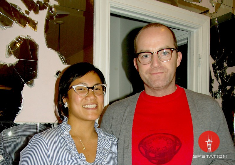 Photo by Lily Ko<br /> <br /> In this scene: Juliet and Noel Wales--the couple with the best glasses. Noel's glasses are tortoise Ray Bans. Both glasses are actually vintage sunglasses-turned-glasses! So great. If you're like me and you can't seem to find the perfect frames, maybe sunglasses-turned-glasses are the answer?