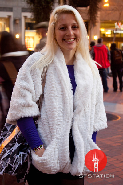 Photo by Tessa Morris<br /> <br /> In this scene: Mira loves shopping at H&M and Victoria's Secret. Her white fur coat is from Macy's.