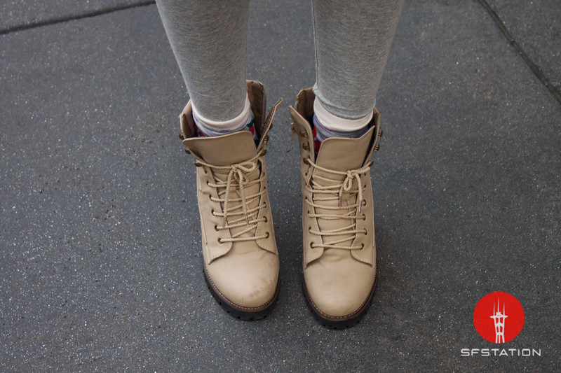 Photo by Tessa Morris<br /> <br /> In this scene: Goeun's stylish beige-colored boots are from Korea.