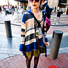 This outfit stands out with wild patterns and colors.<br /> <br /> Photo by Monica Hom