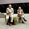 Photo by Lily Ko<br /> <br /> In This Scene: It was such a classic scene: two well-dressed older men, Roly and Robert, in relaxed tweed jackets, having a laugh outside, while, no doubt, waiting on their women.