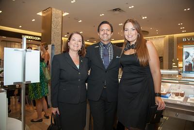 Jamie Thomas, Tom-Saks Sales Associate and Laura Denoux