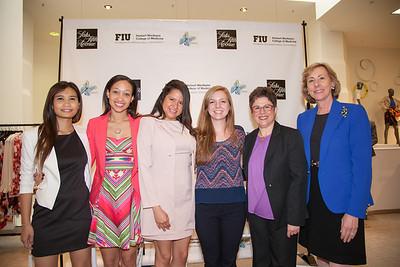 Emily Tongdee, Alyssa James, Misty Coello , Rachel Volke and Dr. Yolangel Hernandez-Suarez and Dr. Carolyn Runowicz