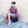 Photo by Lily Ko<br /> <br /> In This Scene:  A geisha in Chinatown. Model, Crystal Natsuko, poses for a photoshoot in Monique Zhang clothing and Naomi King jewelry.