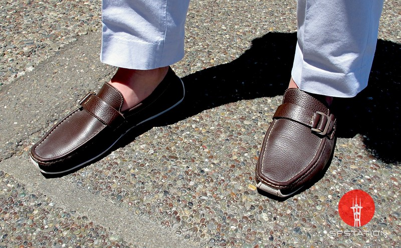 Photo by Lily Ko<br /> <br /> In This Scene:  Erik Bidenkap in a pair of comfy Italian driving shoes hoes by Tremp. It takes a real man to go sockless.